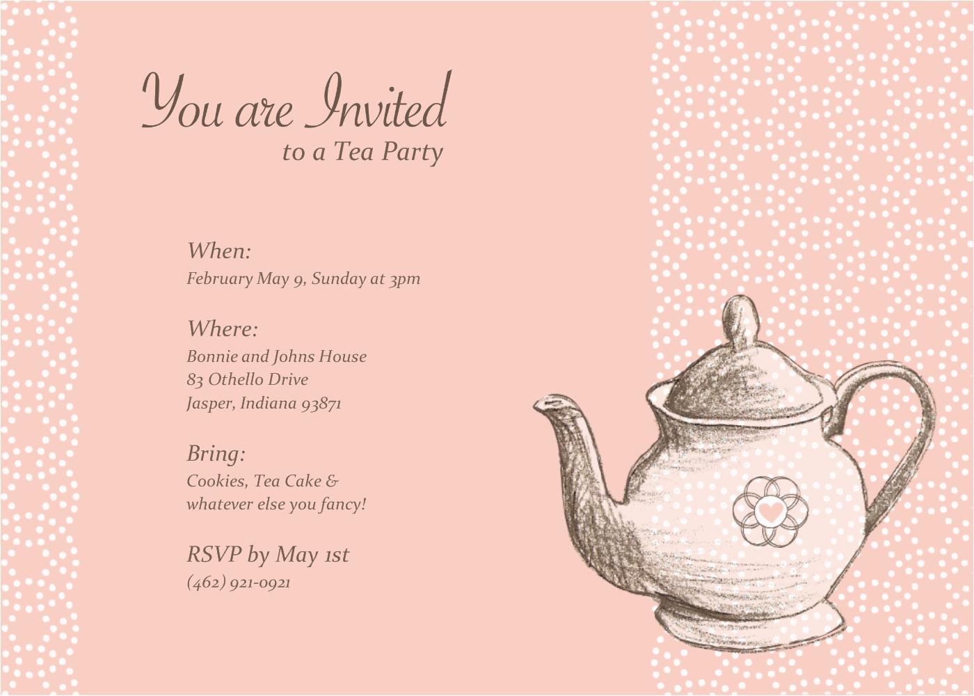 teapot invitations template