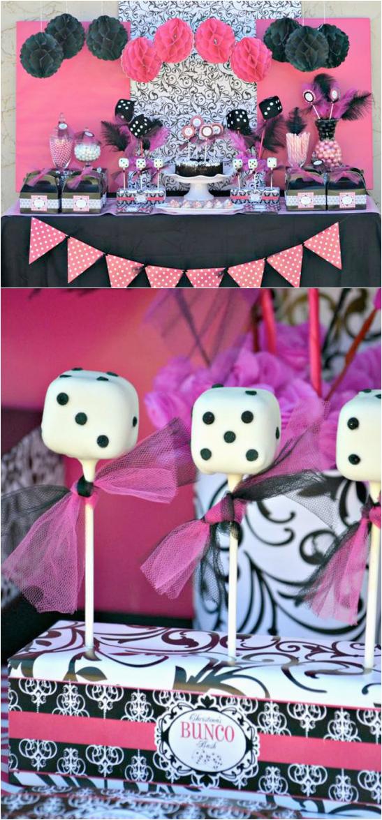 teen girl bunco themed birthday party