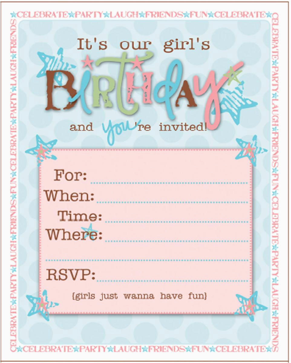 Teenage Girl Birthday Invitations Free Printable 21 Teen Inspire Design Cards