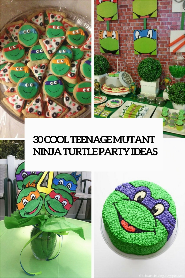 Teenage Mutant Ninja Turtles Birthday Decorations 30 Cool Teenage Mutant Ninja Turtles Party Ideas Shelterness