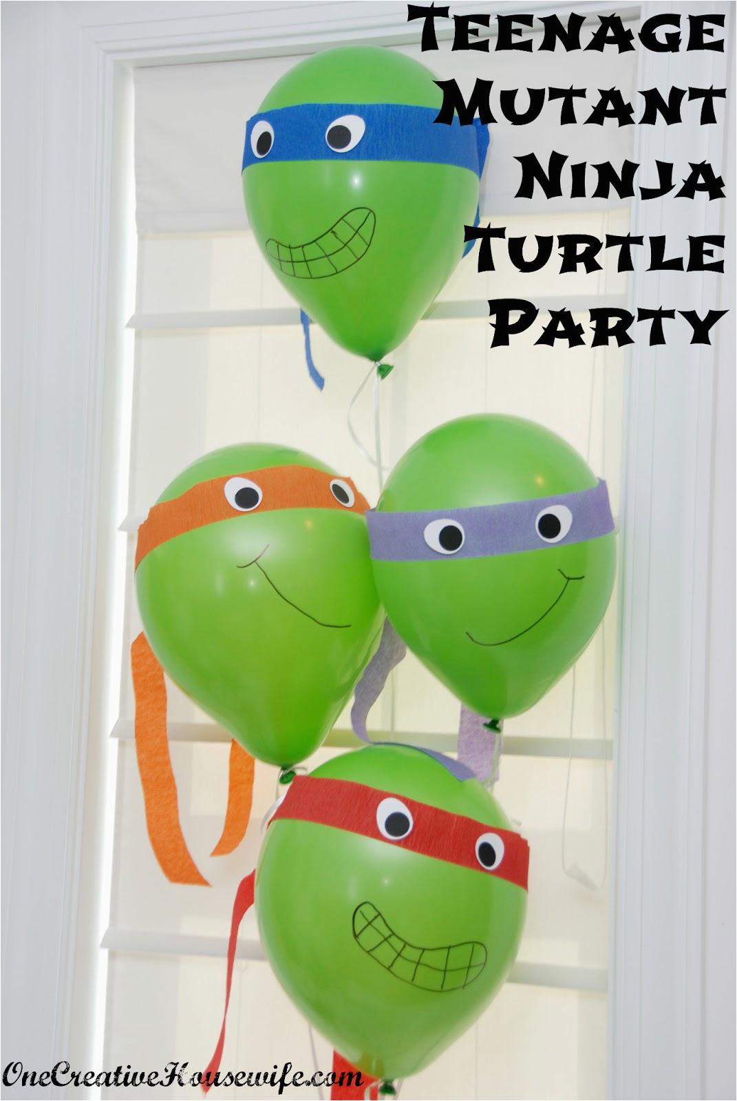 Teenage Mutant Ninja Turtles Birthday Decorations One Creative Housewife Teenage Mutant Ninja Turtle Party