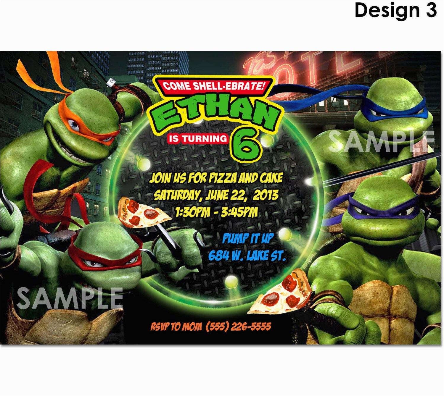 Teenage Mutant Ninja Turtles Birthday Invitations Free Tmnt