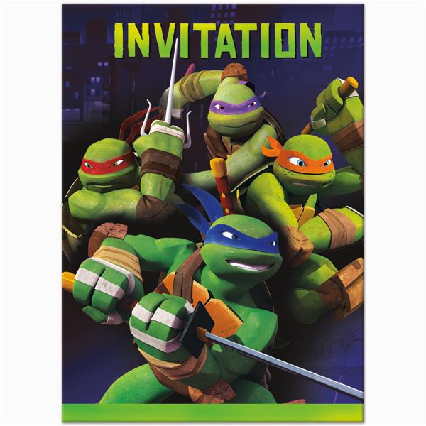 Teenage Mutant Ninja Turtles Birthday Invites Turtle Invitations Template