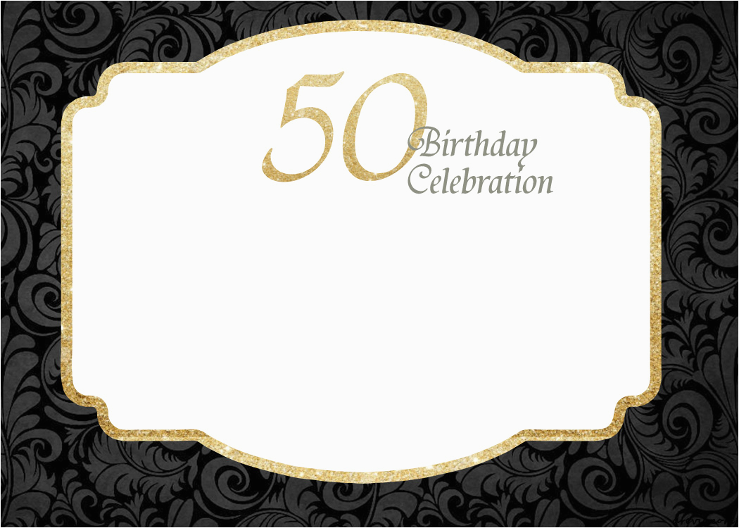 free printable 50th birthday invitations template