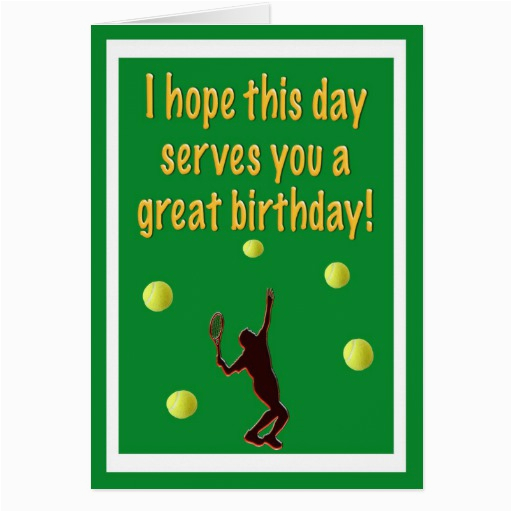 tennis player happy birthday card 137495241598790433