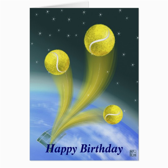 tennis victory happy birthday card 137390813155552296