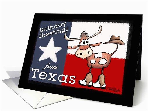 birthday greetings from texas texas flag 781714