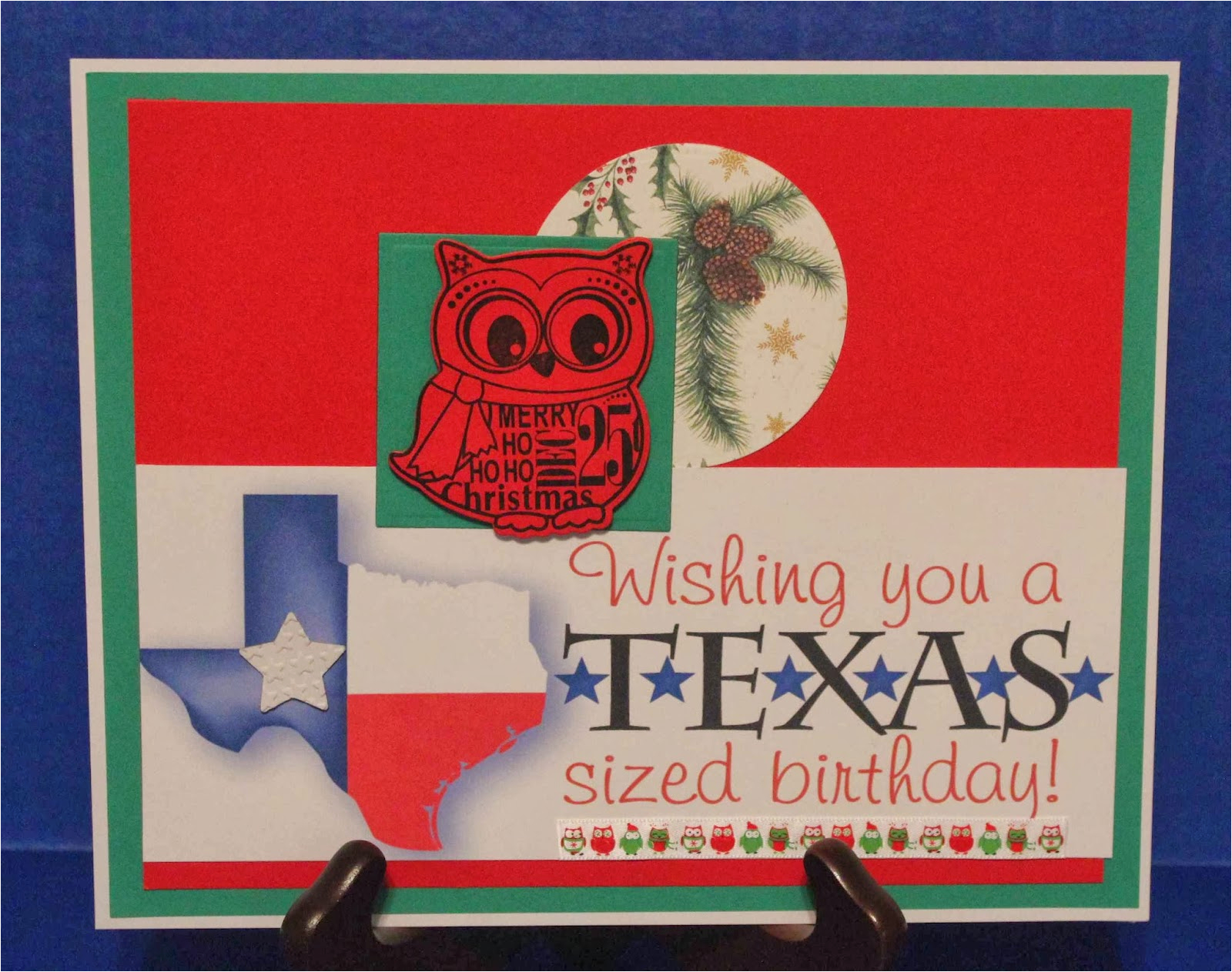 tx sized birthday christmas card