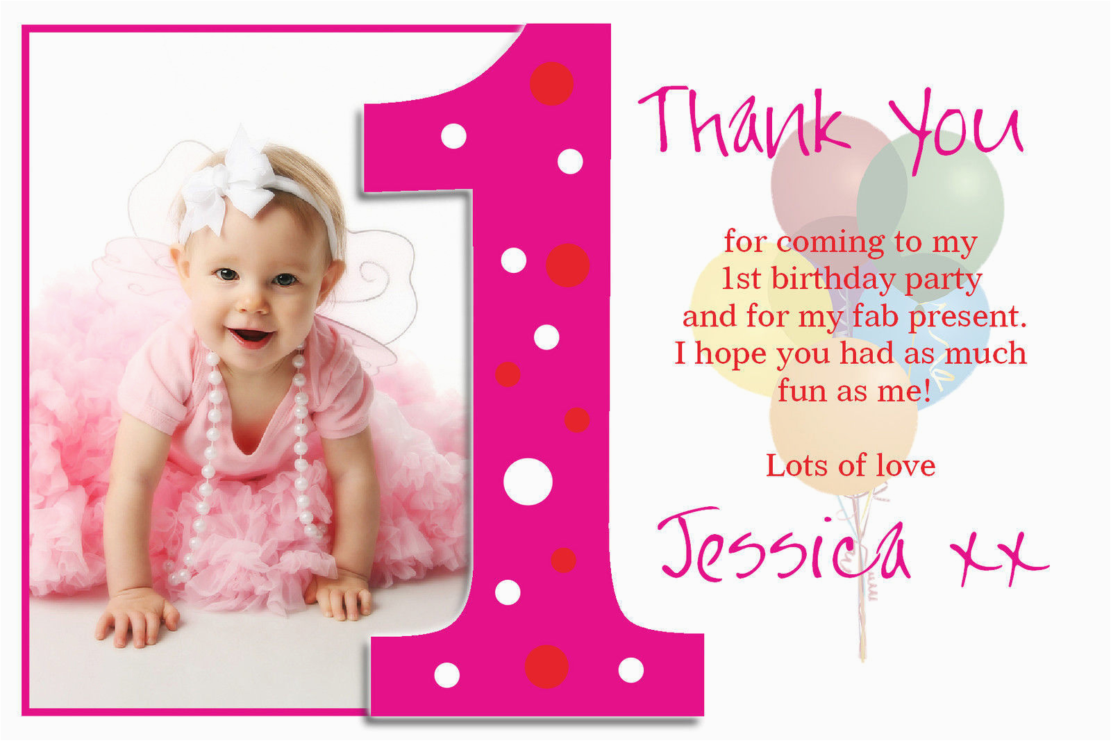Thank You Card after Birthday Party Birthday Thank You Cards Regarding Ucwords Card Design