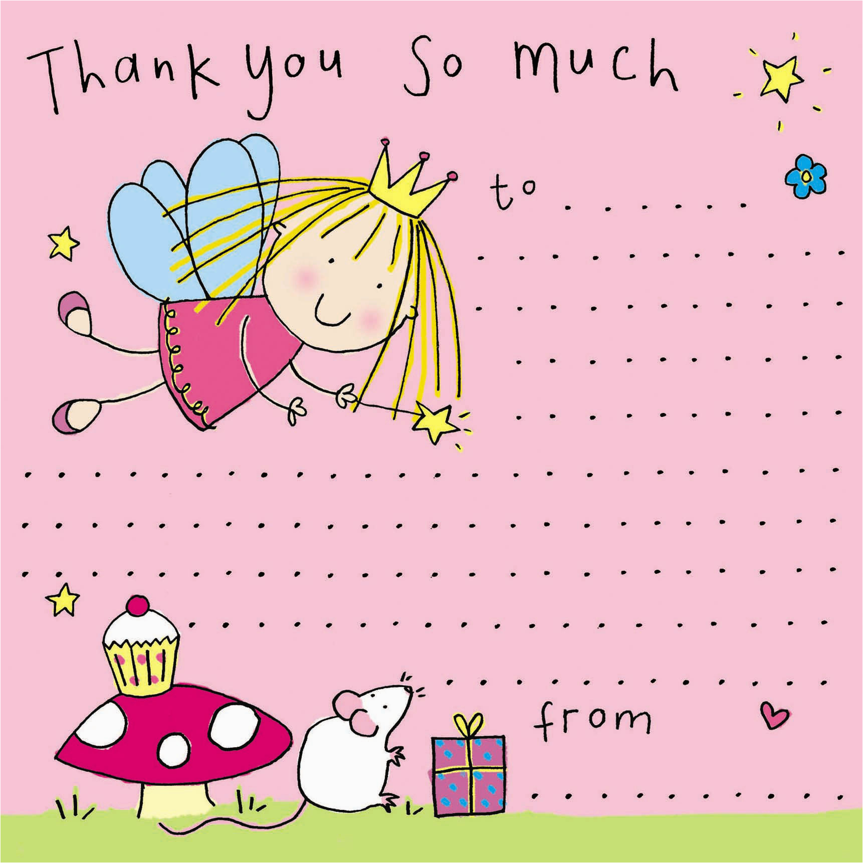 fairy princess thank you note 18 p