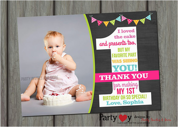 birthday thank you card