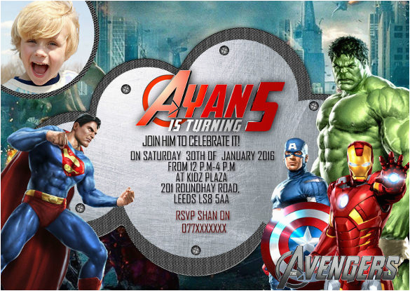 sample superhero birthday invitation