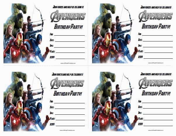 the avengers birthday party invitations