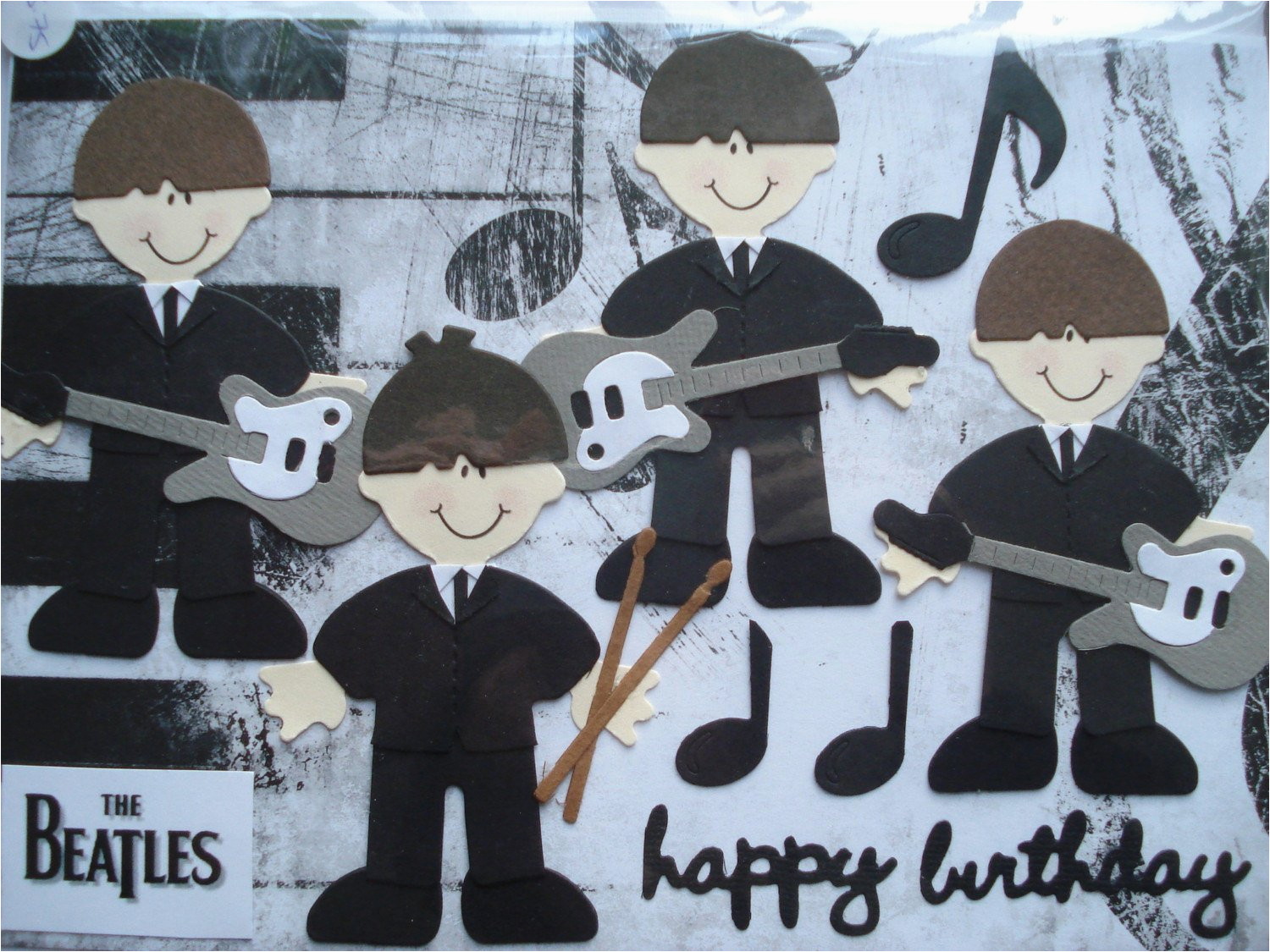 beatles birthday card a5 by cardsbydoodlebug on etsy