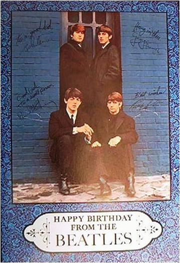 beatles birthday card american greetings