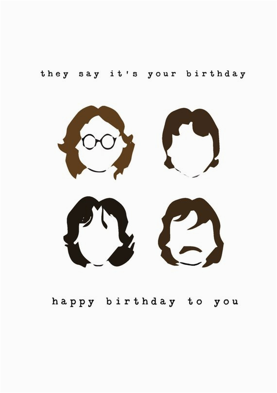 beatles birthday card