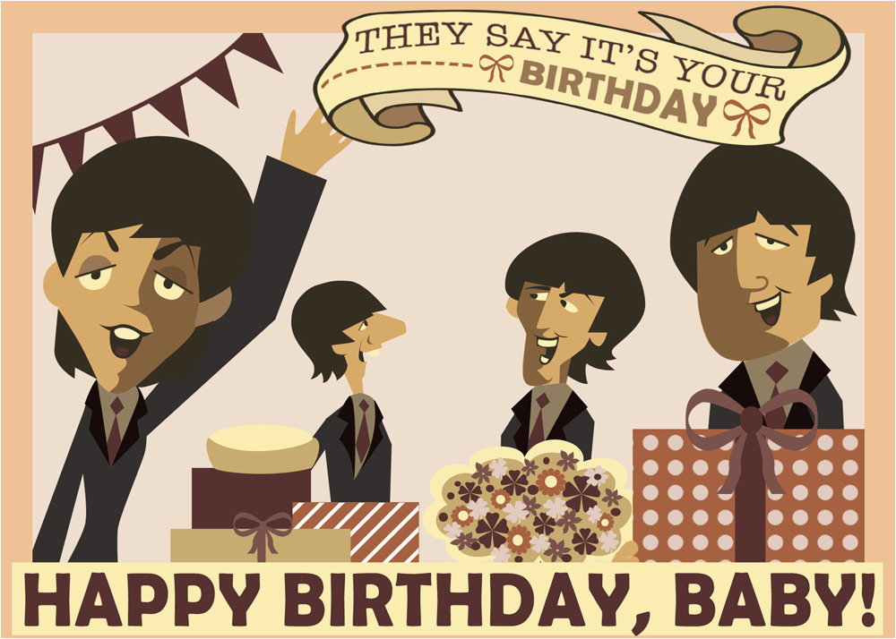 The Beatles Birthday Card Beatles Birthday Quotes Quotesgram