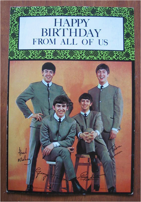fab oversized beatles birthday card