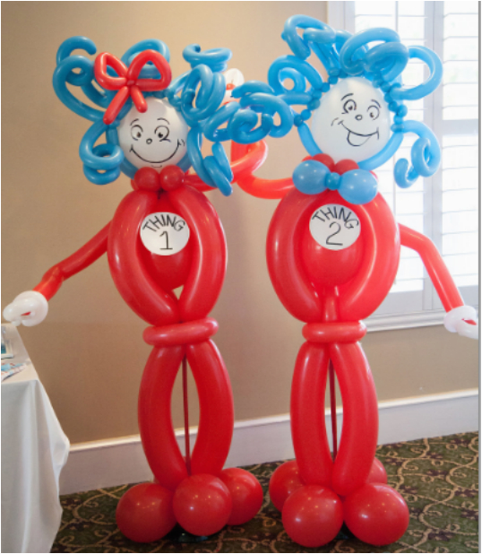 Thing 1 And 2 Birthday Decorations Party Ideas Blog Delightful Dr Seuss