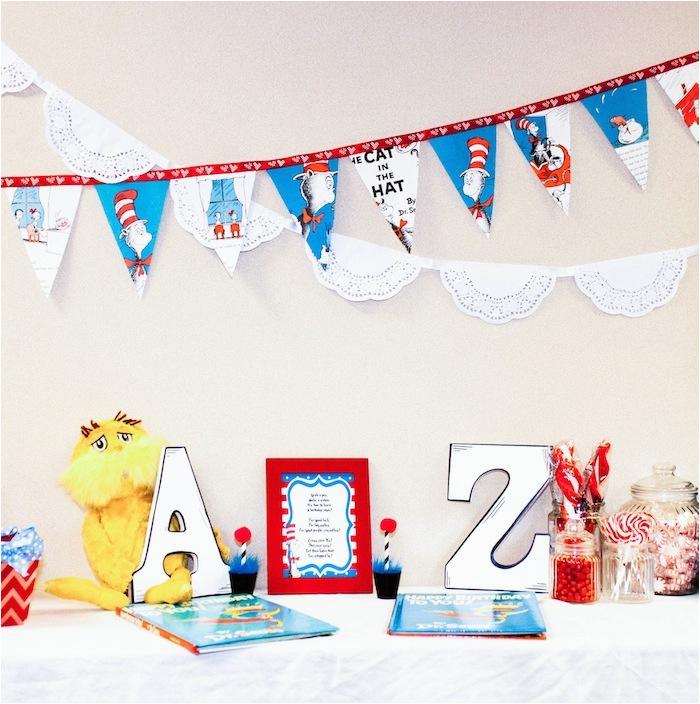 Thing 1 And 2 Twin Themed Birthday Party Via Karas Ideas Karaspartyideas Com Dr