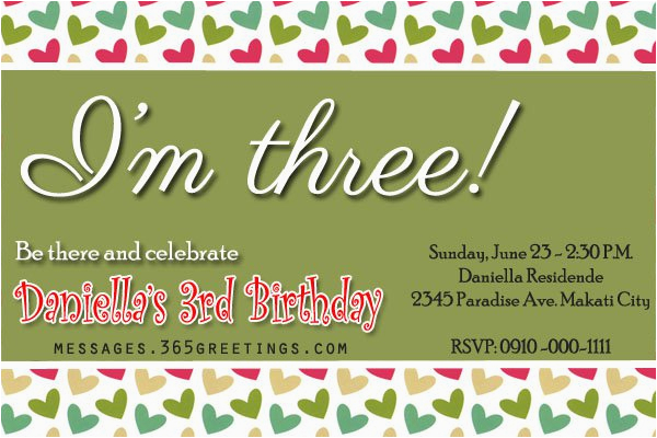 third birthday invitation rhymes