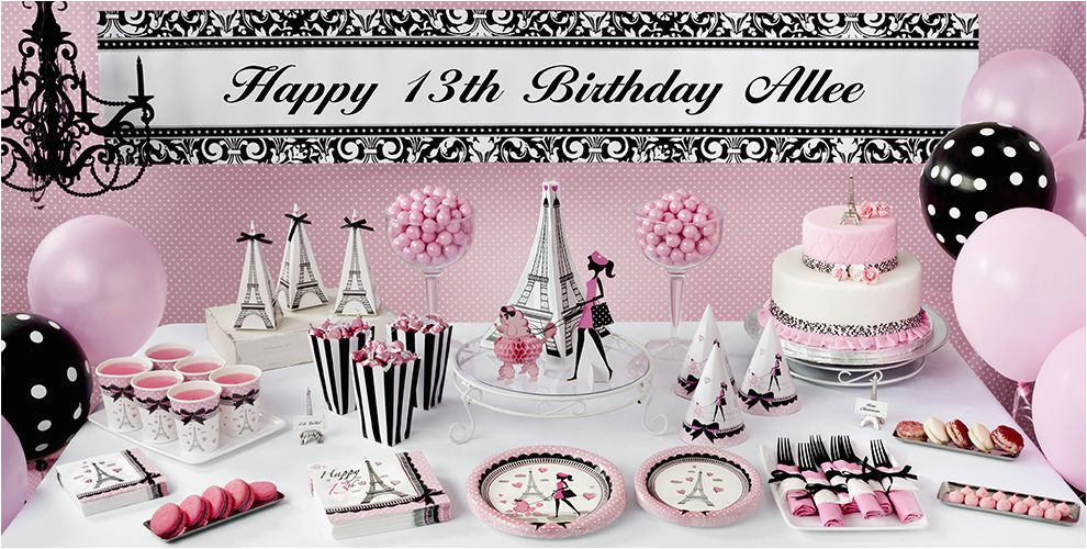 pink paris 13th birthday party supplies do