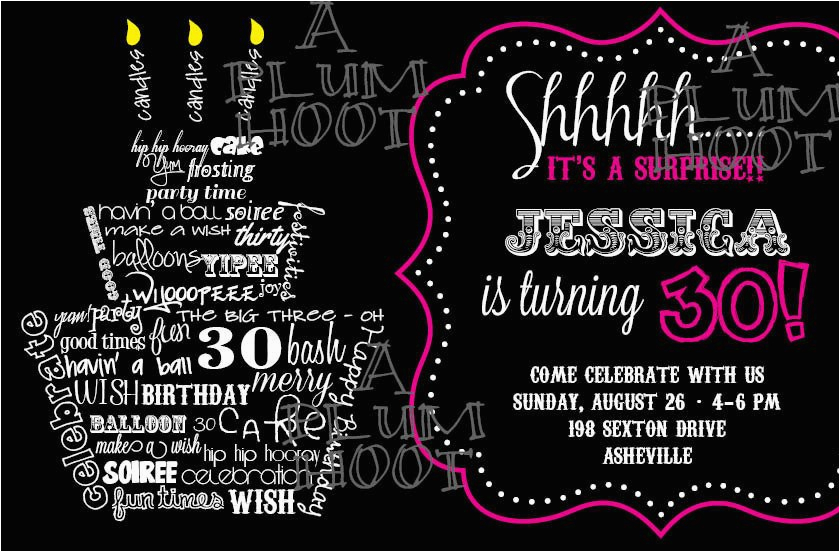 30th birthday invitations templates