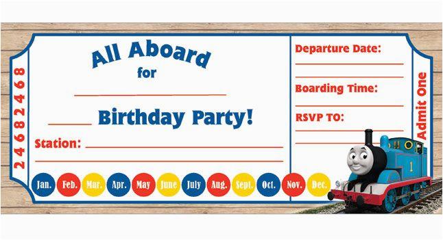 Thomas And Friends Birthday Invitation Cards 9 Train Invitations For Kid Free Printable