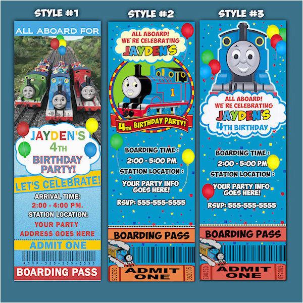 Thomas Birthday Invitations Personalized Thomas The Train Birthday