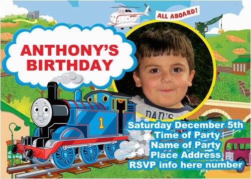 Thomas Birthday Invites Thomas The Train Birthday Party Invitations
