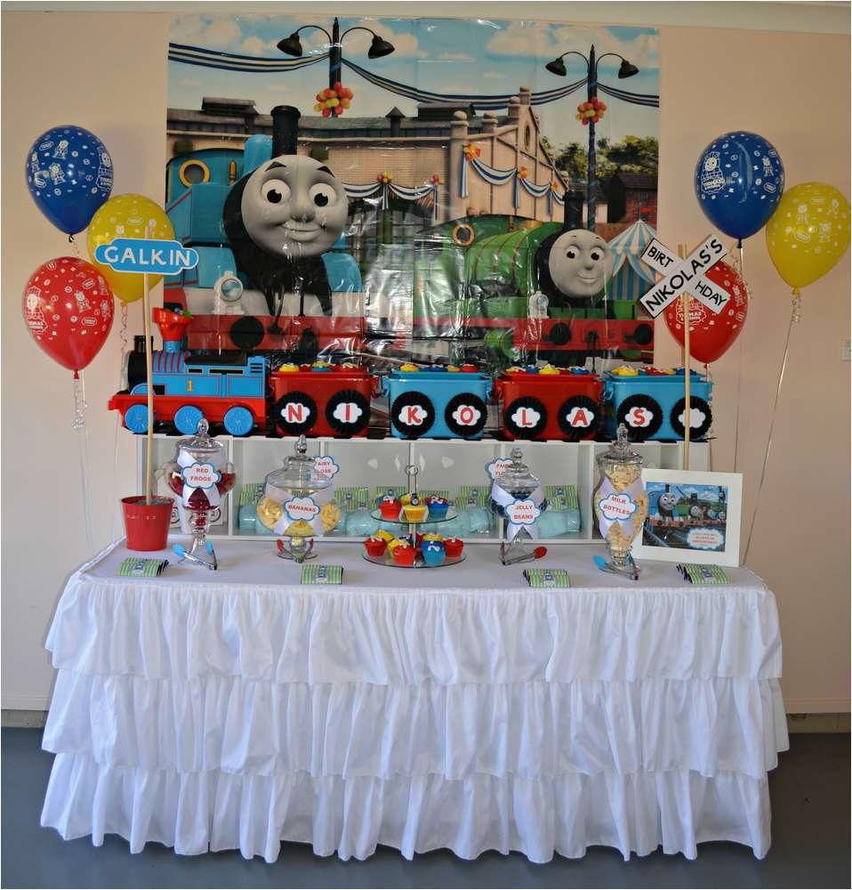 Thomas the Tank Birthday Decorations Thomas the Tank Engine Birthday Party Ideas Photo 13 Of