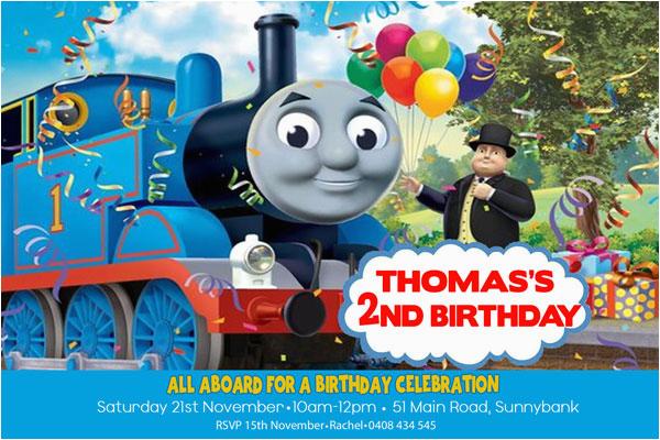Thomas The Tank Engine Birthday Invitations Boy Party