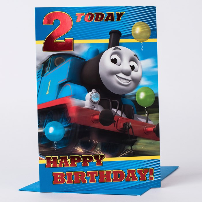 2nd birthday card thomas the tank engine only 99p