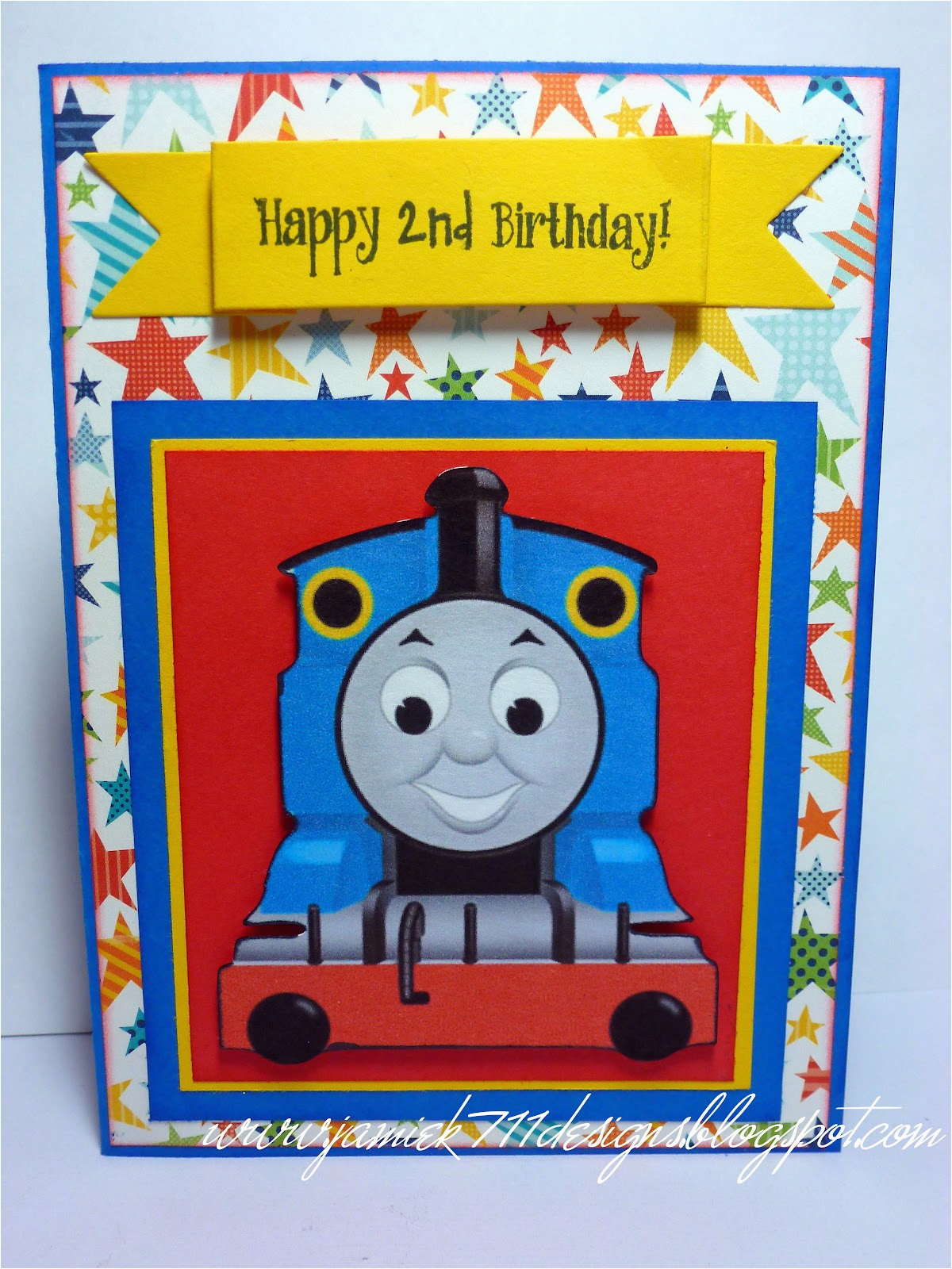 Thomas the Train Birthday Card Printable Jamiek711 Designs 100th Blog Post Blog Hop Winner and