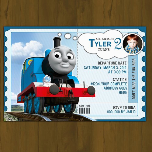 thomas train birthday invitations printables