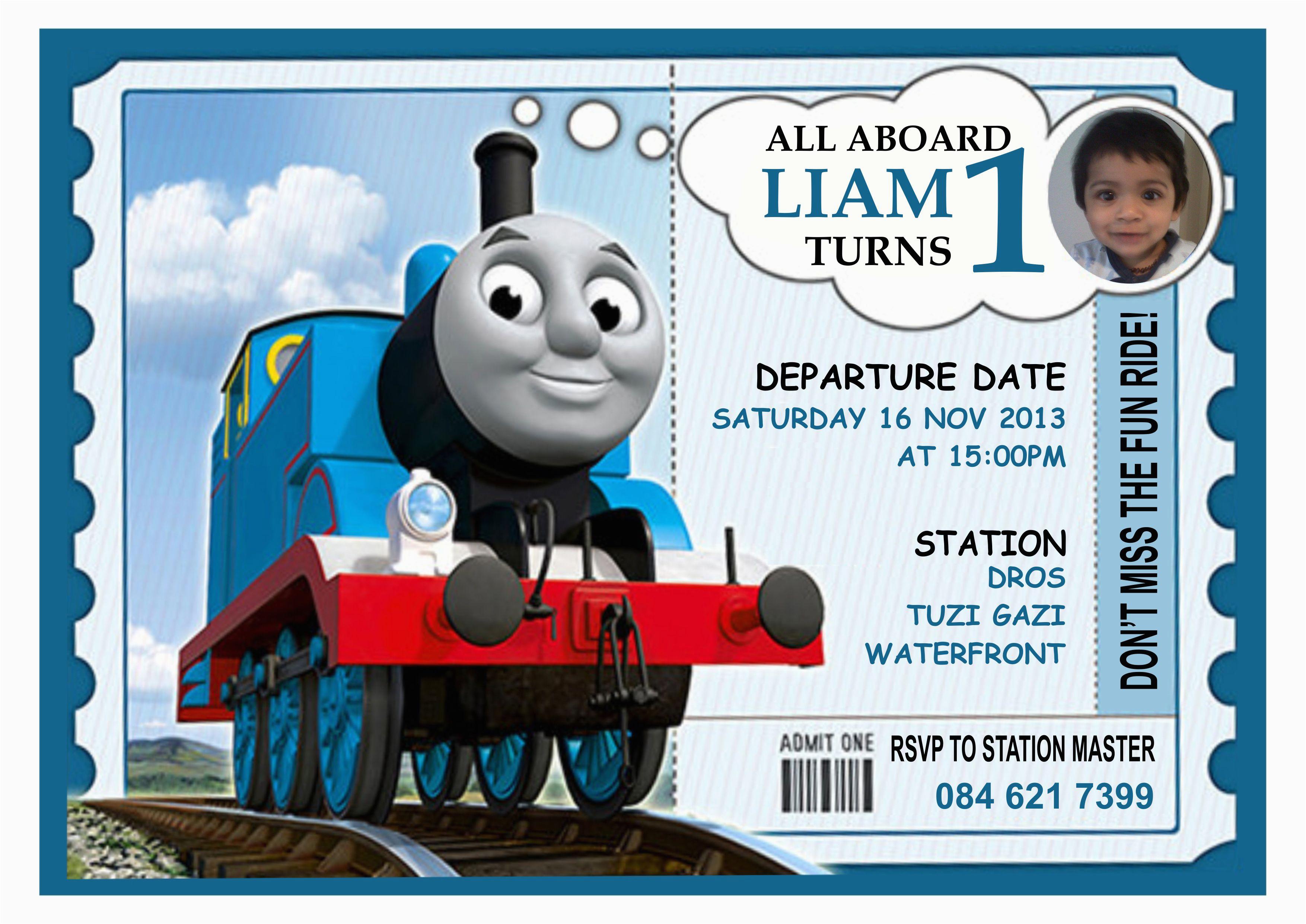 Thomas The Train Birthday Invites 9 Invitations For Kid Free Printable