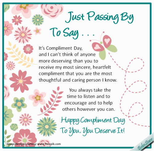 Thoughtful Birthday Cards Most thoughtful and Caring Free Compliment Day Ecards