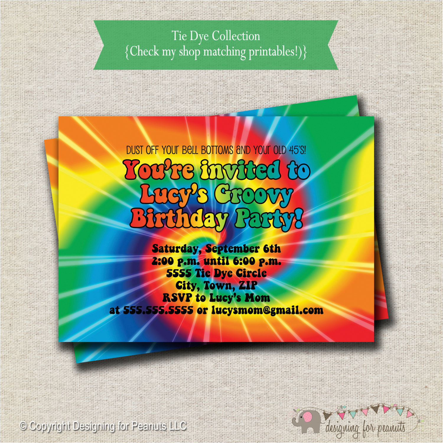 rainbow tie dye birthday party