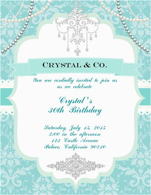 tiffany blue birthday invitation blue birthday invitations