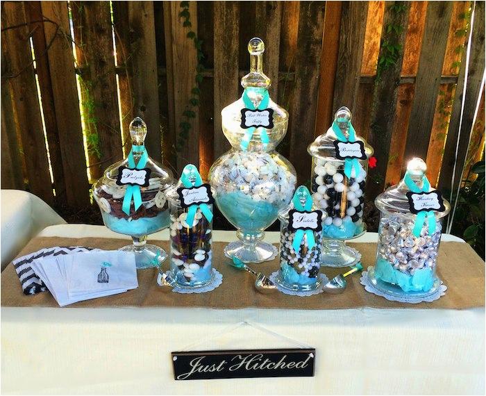 Tiffany Blue Birthday Party Decorations Kara 39 S Ideas Rustic Black White