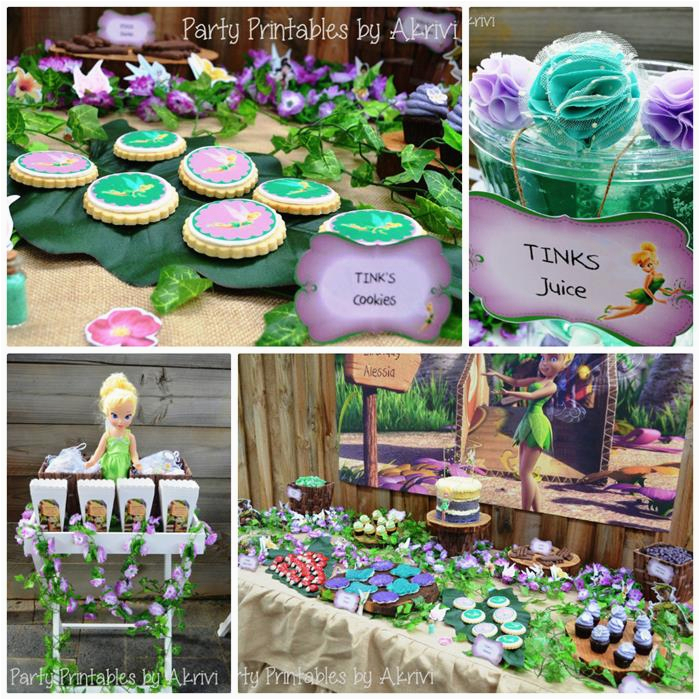 tinkerbell themed 6th birthday party