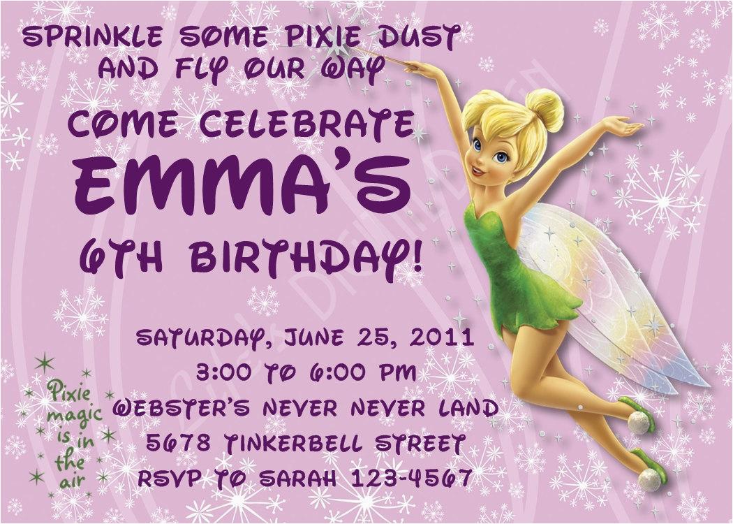 tinkerbell birthday invitations