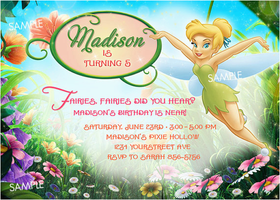 tinkerbell invitation for birthday quotes