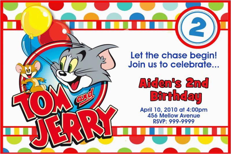 tom and jerry birthday invitations dolanpedia