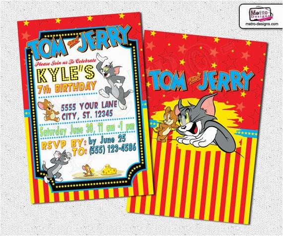 tom and jerry invitations tom jerry invitations