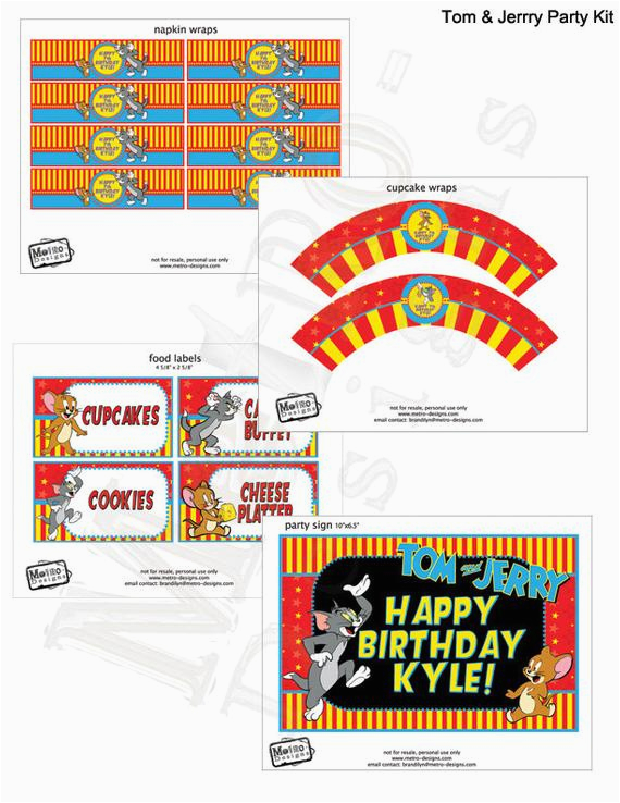 tom and jerry party decorations tom and jerry birthday