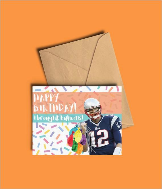 tom brady birthday card funny deflate gate joke card