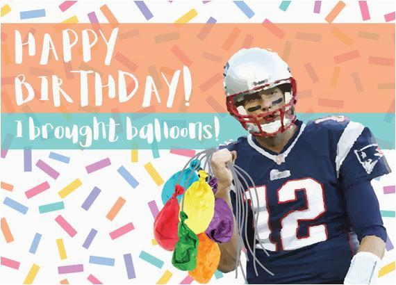Tom Brady Birthday Card tom Brady Birthday Card Funny Deflate Gate Joke Card