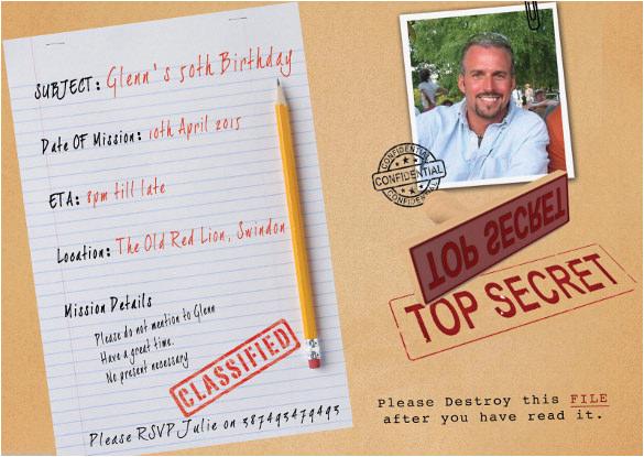 Top Secret Birthday Invitations 26 Surprise Invitation Templates Free Sample