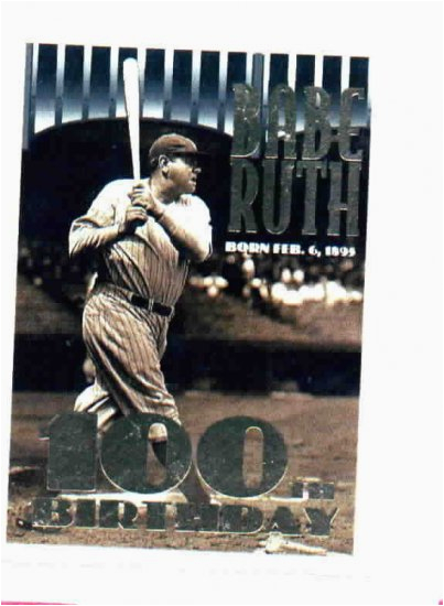 1995 topps babe ruth 100th birthday